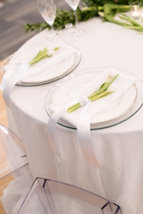 head table place settings