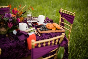 Plum tablescape