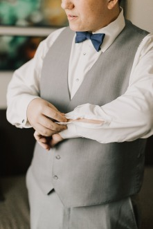 groom in gray